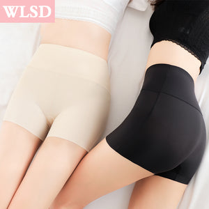 WLSD Women Safety Shorts Pants Seamless Nylon High Waist Panties Seamless Anti Emptied Boyshorts