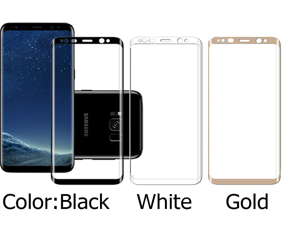 10D Curved Tempered Glass For Samsung Galaxy s8 S9 plus note 9 8 A8 A6 Plus A7 Screen Protector