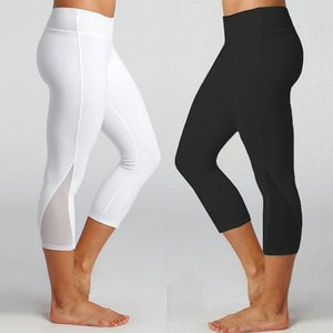 Women's Leggings Fitness Sports Gym Running Slim Tight Yoga Athletic Pants Calf-Length Pants Fashion Workout Sportswear Women