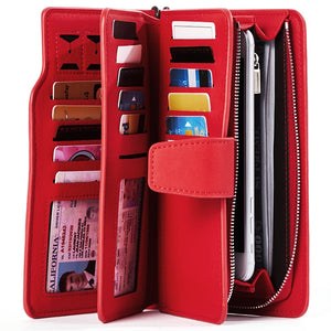 Wallet Female PU Leather Wallet Leisure Purse Red Style 3Fold Top Quality Women Wallets Long Coin