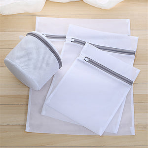Mesh Laundry Bags for Washing Machine Travel Clothes Storage Net Zip Bag for Wash Bra Stocking and