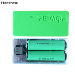 5600mAh 2X 18650 USB Power Bank Battery Charger Case DIY Box For iPhone For Smart Phone MP3