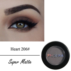 PHOERA Smoky Eyeshadow Palette Powder Matte Shimmer Eye Shadow Palette Make Up Cosmetic maquiagem