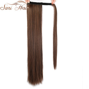 Suri Hair 24'' Long Silky Straight Ponytails Clip In Synthetic Pony Tail Heat Resistant Fake Hair