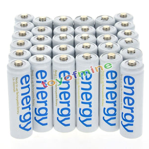 4/8/16/24/32/48/100pcs 3300mAh 1.2V Ni-Mh AA Rechargeable Battery White 2A Energy for MP3 Cell RC