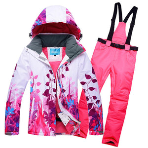 10K Leader sales winter Jackets women ski suit set Jackets and Pants outdoor single ski set