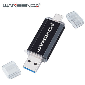 Hotsale WANSENDA OTG Usb Stick Type C Pen Drive 128GB 64GB 32GB 16GB USB Flash Drive 3.0 High