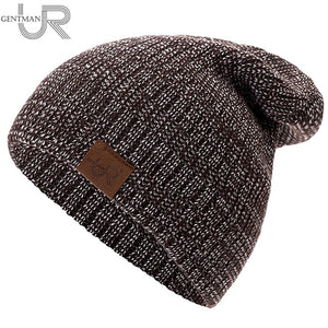 New Unisex Hat URGENTMAN Casual Beanies For Men Women Hip-hop Knitted Winter Hat Male Acrylic