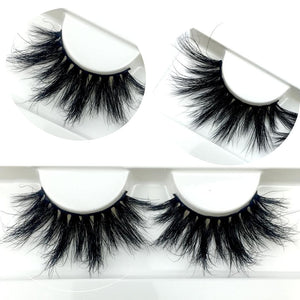 100% Mink Eyelashes False Eyelashes Crisscross Natural Fake lashes Length 25mm Makeup 3D Mink Lashes