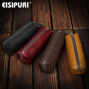EISIPURI Genuine Cow Leather Men Women Key Bag Small Business Kay Case Women Housekeepers
