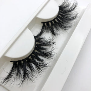 Mikiwi 25mm Long 3D mink lashes extra length mink eyelashes Big dramatic 25mm Mink Lashes 100%