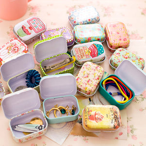 Colorful mini tin box sealed jar packing boxes jewelry, candy box small storage boxes cans coin