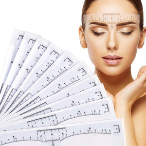 10pcs Disposable Eyebrow large Ruler Microblading Accessories Tool Measurement Mark Permanent Makeup