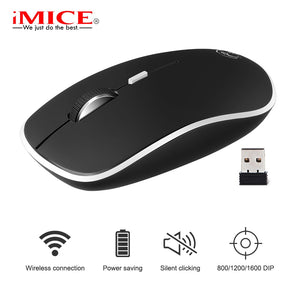 iMice Wireless Mouse Computer Slient mouse For PC Laptop Mini Mause Ergonomic Mice 2.4Ghz Optical