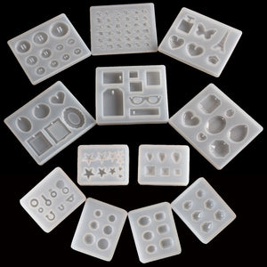 1PC Pendant Craft DIY Transparent UV Resin Liquid Silicone Combination Molds for DIY Making
