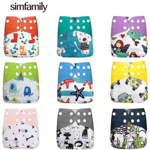[simfamily]Diaper new baby cloth diapers porket adjustable boy girl newborn washable waterproof