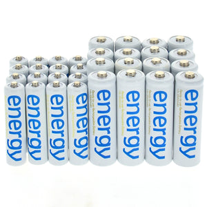 4/10/16/20/24/32/50pcs AA 3300mAh + AAA 2000mAh 1.2V Ni-Mh Energy Rechargeable Battery White Cell
