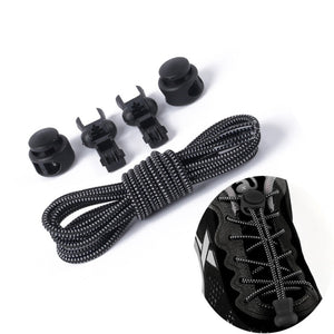 No Tie Shoelaces Stretching Lock lace Locking Shoe Laces Elastic Sneaker Chidren Shoelaces Shoestrings Running/Jogging/Triathlon
