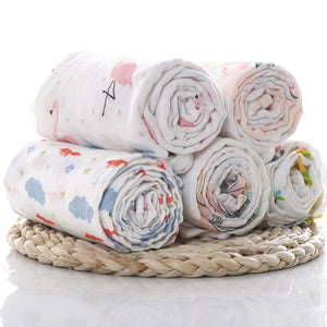 1Pc Muslin 100% Cotton Baby Swaddles Soft Newborn Blankets Bath Gauze Infant Wrap Sleepsack Stroller
