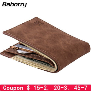 Fashion 2019 Men Wallets Mens Wallet with Coin Bag Zipper Small Money Purses New Design Dollar