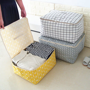 New Simple Cloest Organizer 1 Pcs Durable Storabe Bag Quilt Blnket Sock Stuff Container Portable