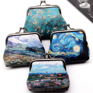 Vintage Women Printing coin Purses girl hasp Zero Wallet Ladies Clutch change purse Female mini