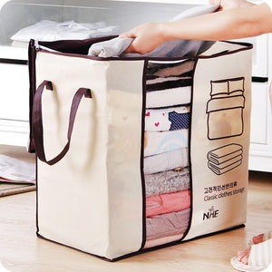 Non-Woven Family Save Space Organizador Bed Under Closet Storage Box Clothes Divider Organiser Quilt