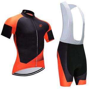 Orange Pro cycling Jersey 9D gel pad bike shorts set Ropa Ciclismo quick dry Racing Team bicycling