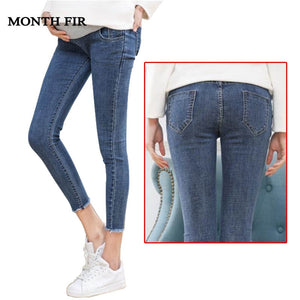 Maternity Clothes Elastic Soft Maternity Jeans Skinny Pregnancy Pants Lovely Trousers for Pregnant
