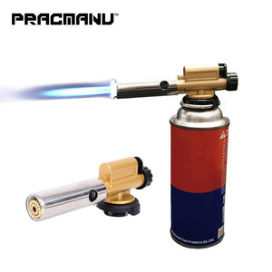 PRACMANU Electronic Ignition Copper Flame Butan Gas Burner Gun Maker Torch For Outdoor Camping