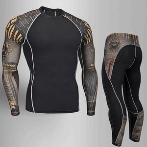 Man Compression Tights Leggings Men's Sports Suit Jogging Suits Gym Training T-shirt MMA Rash
