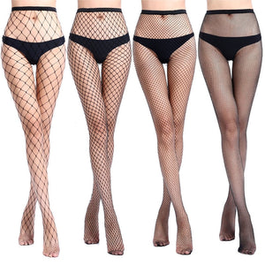 Hollow Out Sexy Pantyhose Black Mesh Stockings Jeans Stretch Bottoming Stocking Fishnet Stockings