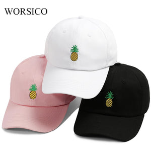 Baseball Cap Women Men Pineapple Embroidery dad hat Trucker Fashion Unisex Snapback hip hop cap Summer Hats Streetwear casquette