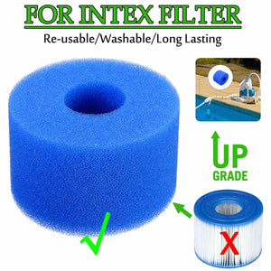10.8x4x7.3cm Swimming Pool Filter Foam Reusable Washable Sponge Cartridge Foam Suitable Bubble Jetted Pure SPA For Intex S1 Type