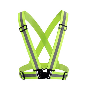 ZK30 High Visibility Unisex Outdoor Reflective Elasticity Safety Vest Fit For Running Cycling Sport Outdoor Clothes