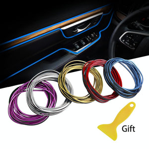 5M Car Styling Stickers and Decals Interior Mouldings Decoration 3D Thread Stickers Decoration