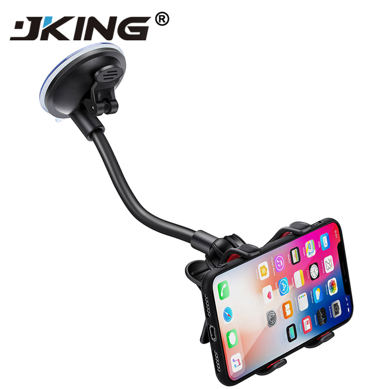 JKING Car Phone Holder, Flexible 360 Degree Adjustable Car Mount Mobile Phone Holder For Mi 9