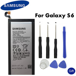 Original SAMSUNG Replacement Battery EB-BG920ABE For Samsung GALAXY S6 SM-G920 G920F G920i G920A G920V G9200 G9208 G9209 2550mAh