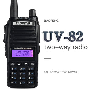 Walkie Talkie BaoFeng UV-82 Dual-Band 136-174/400-520 MHz FM Ham Two Way Radio, Transceiver,