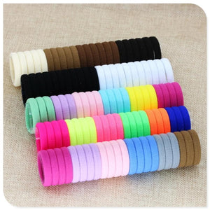 40 Pc Girl elastic hair bands Black White Hair accessories 2019 Gum For Hair ponytail Rubber Bands
