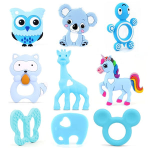 TYRY.HU 1pc Silicone Teether Animal Baby Teether Pendant Food Grade BPA Free Baby Teething Chew