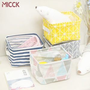 MICCK Foldable Desktop Storage Basket Sundries Storage Box Underwear Cosmetic Organizer Jewelry