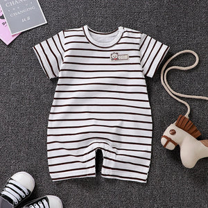 Uniesx Newborn Baby Rompers Clothing Infant Jumpsuits 100%Cotton Stripe Children Roupa De Girls&Boys