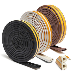 10meters Self Adhesive D P E Type Doors and for Windows Foam Seal Strip Soundproofing Collision