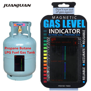 Propane Butane LPG Fuel Gas Tank Level Indicator Magnetic Gauge Caravan Bottle Temperature Measuring