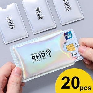Anti Rfid Card Holder NFC Blocking Reader Lock Id Bank Card Holder Case Protection Metal Credit Card