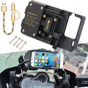 Mobile Phone USB Navigation Bracket Motorcycle USB Charging Mount For R1200GS F800GS ADV F700GS R1250GS CRF 1000L F850GS F750GS