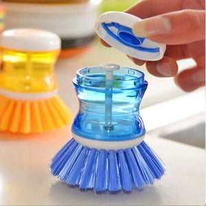 New Home Kitchen Washing Utensils Pot Dish Brush With Washing Up Liquid Soap Dispenser Wash Pot Brush