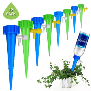 Plant Self Watering Adjustable Stakes System 12Pcs/set Vacation Plant Waterer Self Automatic