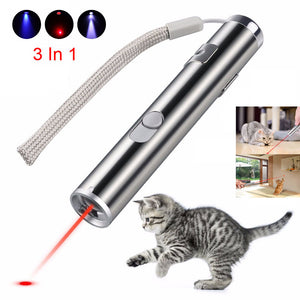 Mini red laser pointer USB rechargeable 3 in 1